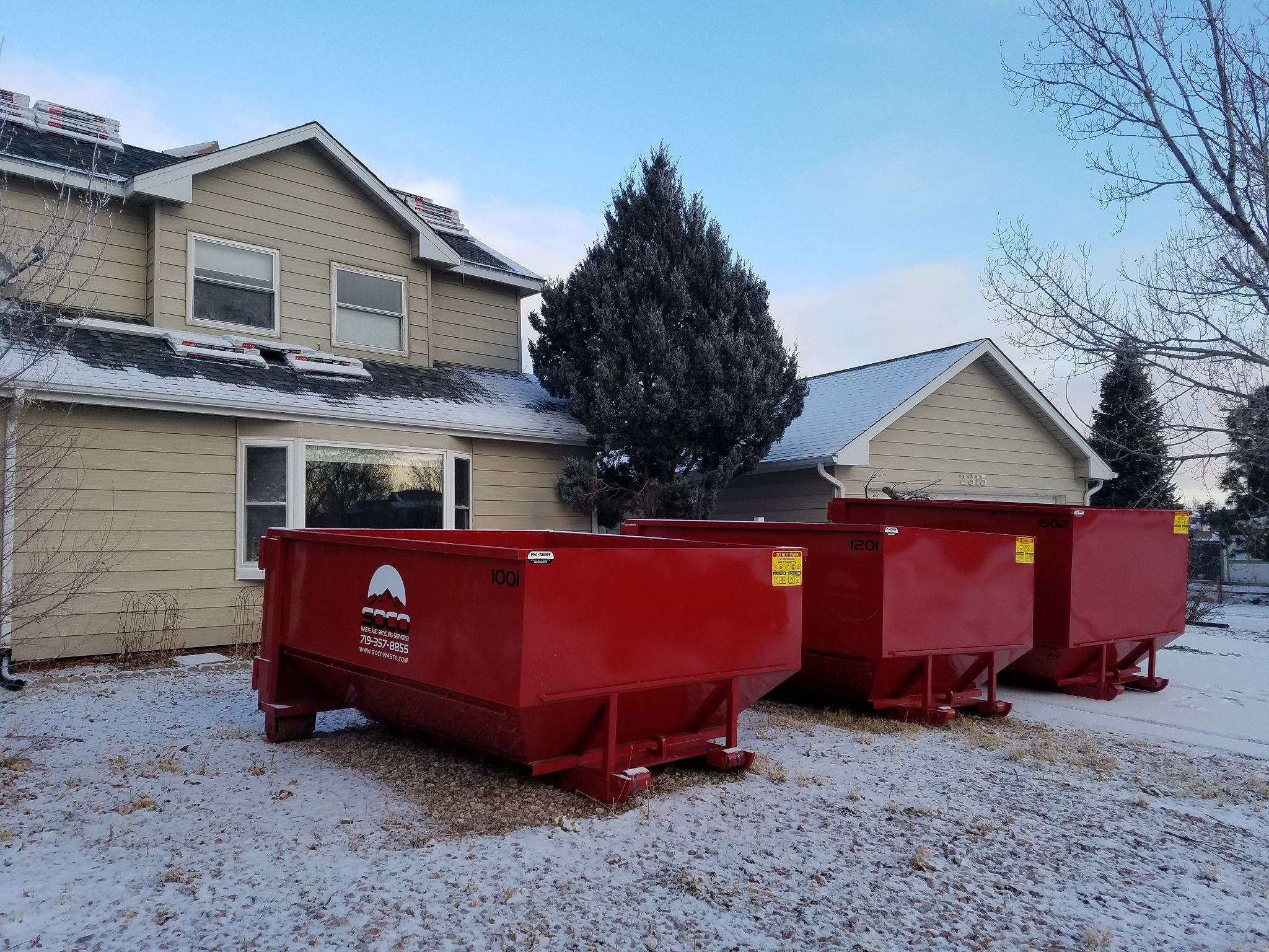 10 & 15 Yard Dumpster Rental Colorado Springs